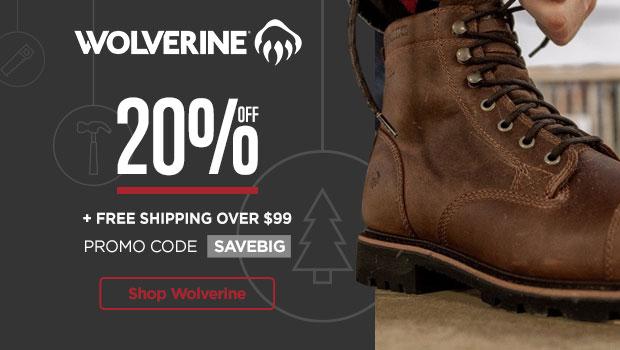20% Off Wolverine