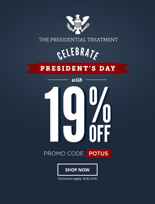 President's Day Sale 19% off