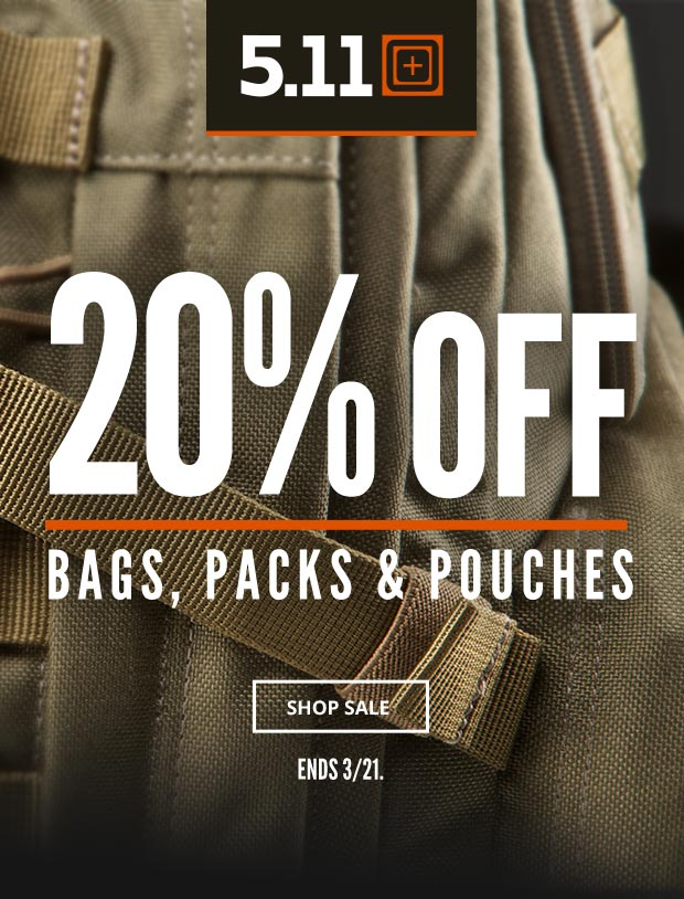 20% Off 5.11 Bags