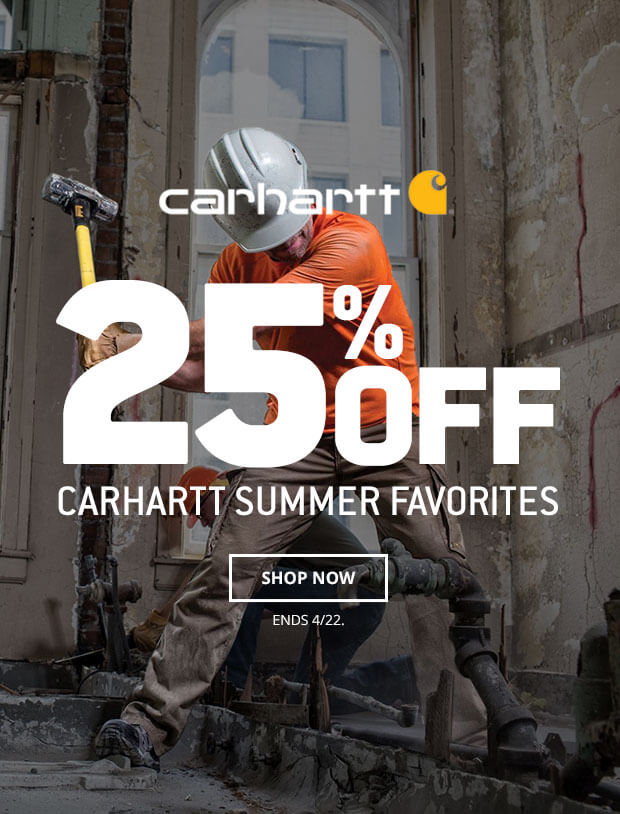 25% Off Select Carhartt Styles