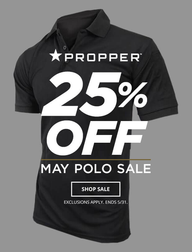25% Off Select Propper Polos