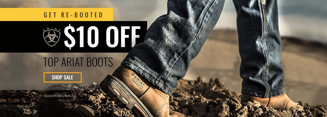 $10 Off Select Ariat Boots