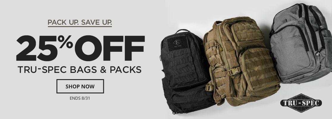 25% Off Tru-Spec Bags
