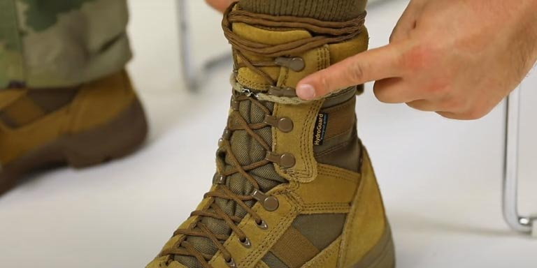 How to Blouse Your Military Boots - step 02
