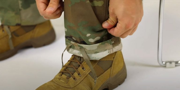 How to Blouse Your Military Boots - step 03