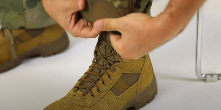 How to Blouse Your Military Boots