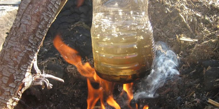 Boiling Water in Plastic Bottles