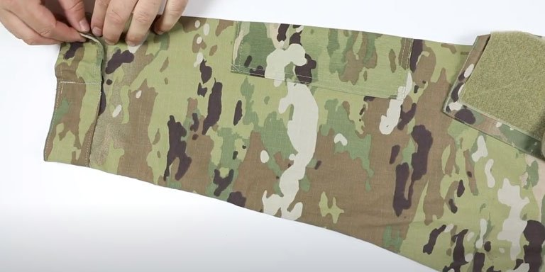 How to Roll Your Uniform Sleeves (Camo Out)- step 01