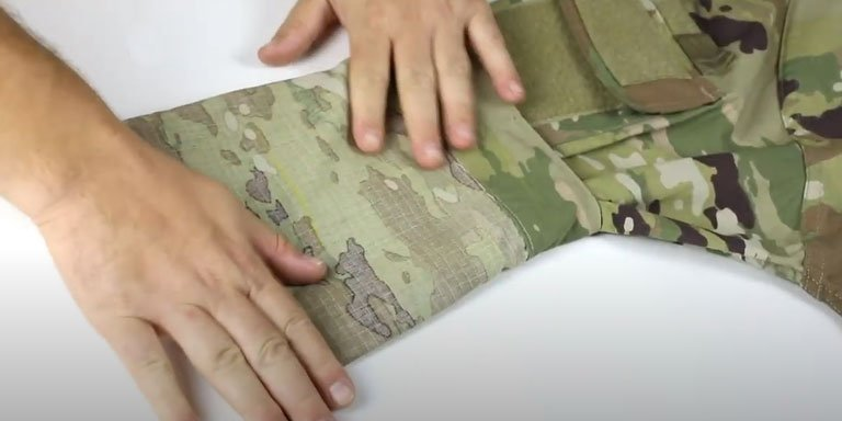 How to Roll Your Uniform Sleeves (Camo Out)- step 02