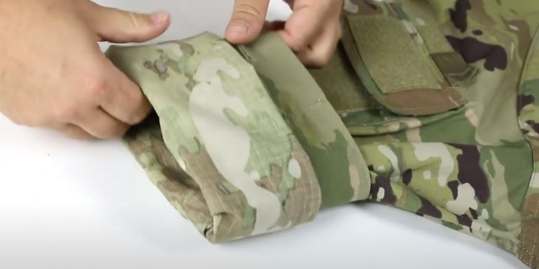 How to Roll Your Uniform Sleeves (Camo Out)- step 03