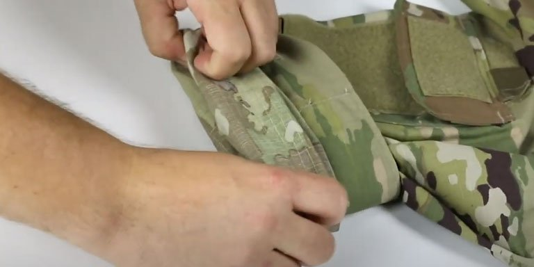 How to Roll Your Uniform Sleeves (Camo Out)- step 04