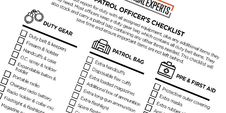 Patrol Officer's Checklist