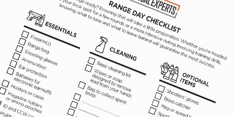 Range Day Checklist